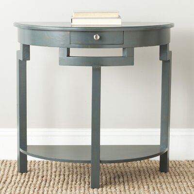 Swansea Console Table Color: Steel Teal