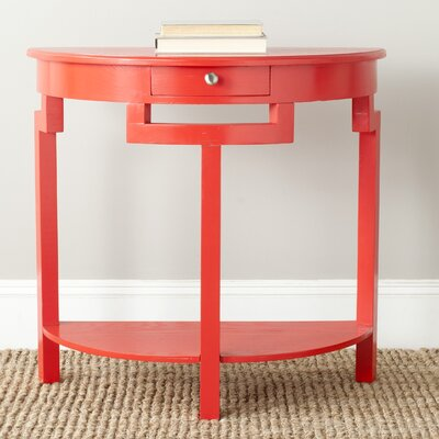 Swansea Console Table Color: Hot Red