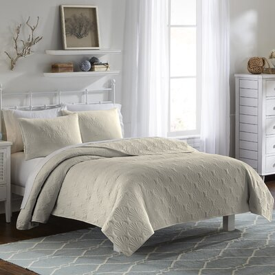 Jessa 3 Piece Quilt Set Color: Khaki, Size: Queen