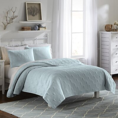 Jessa 3 Piece Quilt Set Color: Spa, Size: King