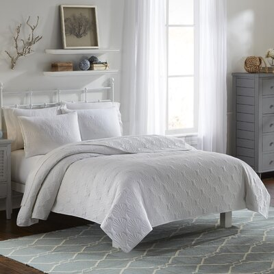 Weyland 3 Piece Quilt Set Color: White, Size: Queen
