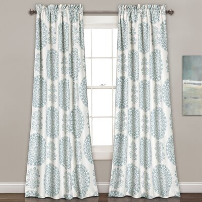 Heron Floral Semi-Opaque Rod Pocket Panel Pair