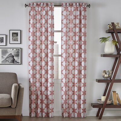 Keyes Geometric Semi-Opaque Rod Pocket Curtain Panels