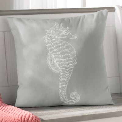 Brookline Seahorse Indoor/Outdoor Throw Pillow Size: 18 H x 18 W x 4 D, Color: Brown