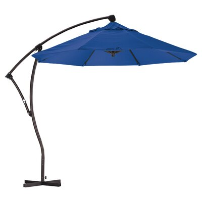 April 9' Cantilever Umbrella Fabric: Sunbrella A Pacific Blue