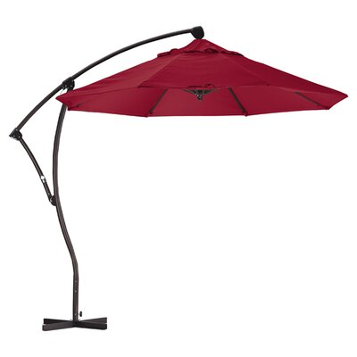 April 9 Cantilever Umbrella Fabric: Sunbrella AA Jockey Red