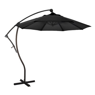 April 9' Cantilever Umbrella Fabric: Sunbrella A Black