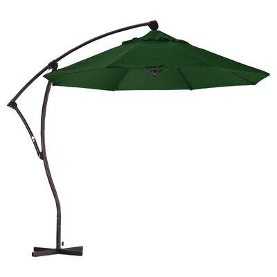 April 9 Cantilever Umbrella Fabric: Sunbrella A Forest Green