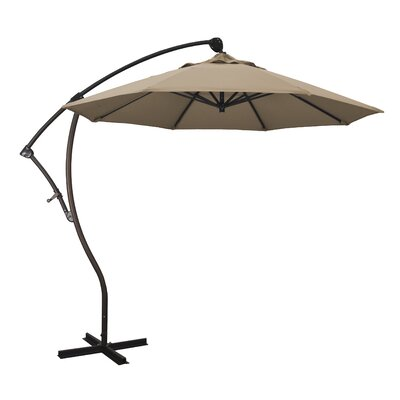 April 9 Cantilever Umbrella Fabric: Sunbrella-Camel