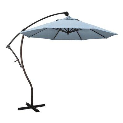 April 9 Cantilever Umbrella Fabric: Sunbrella - Air Blue