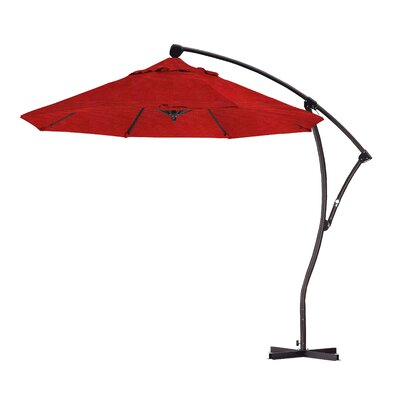 April 9 Cantilever Umbrella Fabric: Sunbrella - Elan Scarlett