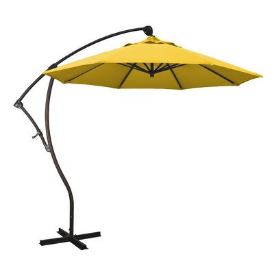 April 9 Cantilever Umbrella Fabric: Sunbrella - Sunflower Yellow