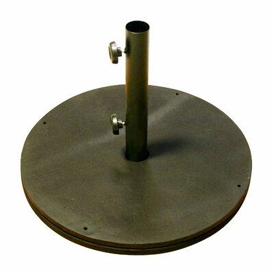 April Black Cast Iron Round Umbrella Base
