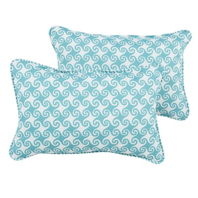 Estelle Waves Indoor/Outdoor Piped Lumbar Pillow