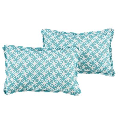 Estelle Waves Indoor/Outdoor Flange Lumbar Pillow
