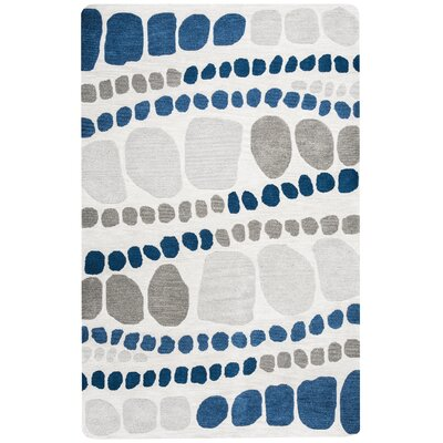 Kenmore Hand-Tufted Gray Area Rug Rug Size: Rectangle 5 x 8
