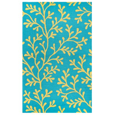 Maryland Hand-Tufted Teal Indoor/Outdoor Area Rug Size: 76 x 96