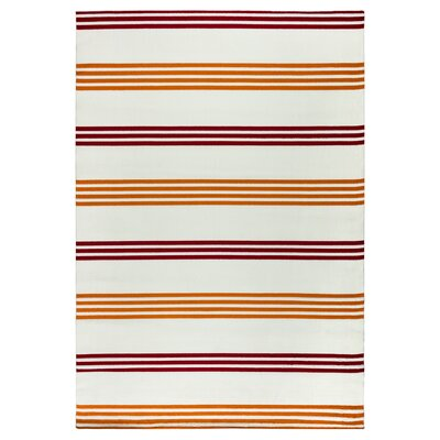 Catalina Orange/Burgundy Indoor/Outdoor Area Rug Rug Size: 53 x 77