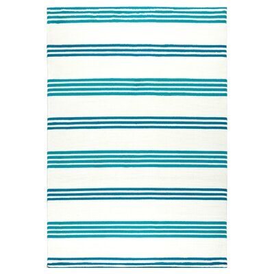 Raelyn Blue Indoor/Outdoor Area Rug Rug Size: Round 55