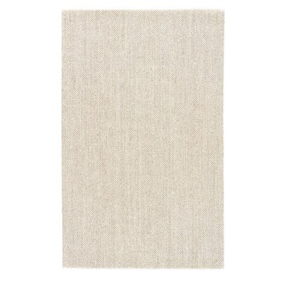 Bayer Hand-Woven Ivory/White Area Rug Rug Size: Rectangle 8 x 10