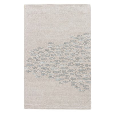 Nottingham Schooled White Rug Rug Size: 8 x 11