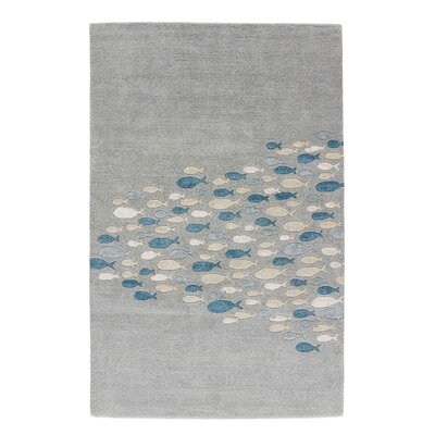 Nottingham Gray/Blue Area Rug Rug Size: 2 x 3