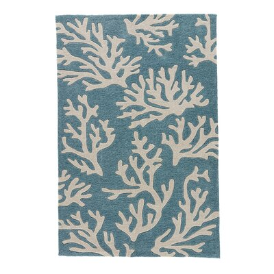 Margaret Hand-Tufted Blue/Ivory Area Rug Rug Size: Rectangle 2 x 3