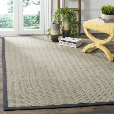 Richmond Hand-Woven Brown/Gray Rug Rug Size: Rectangle 8 x 10