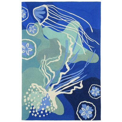 Tannis Hand-Tufted Blue Indoor/Outdoor Area Rug Rug Size: 36 x 56