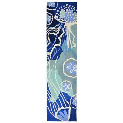 Claycomb Hand-Tufted Blue Indoor/Outdoor Area Rug Rug Size: 76 x 96