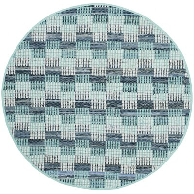 Alberta Hand-Woven Turquoise Area Rug Rug Size: Rectangle 8 x 10