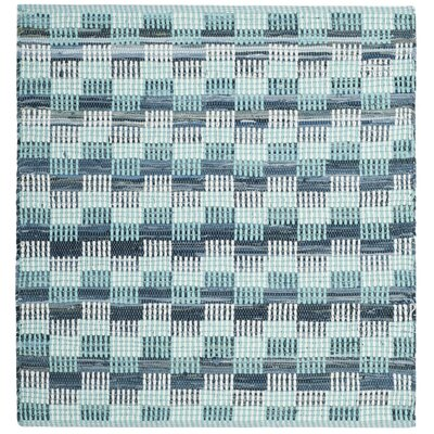 Alberta Hand-Woven Turquoise Area Rug Rug Size: Square 6