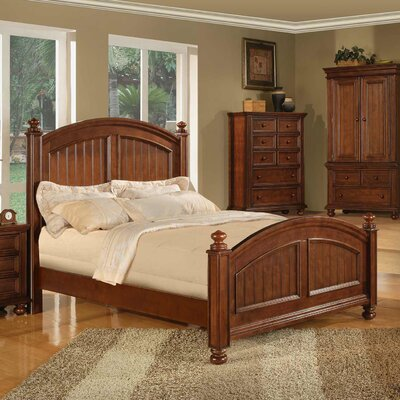 Miami Springs Panel Bed Size: Queen, Color: Chocolate