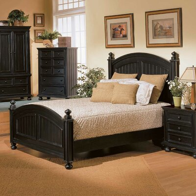 Miami Springs Panel Bed Finish: Ebony, Size: Queen