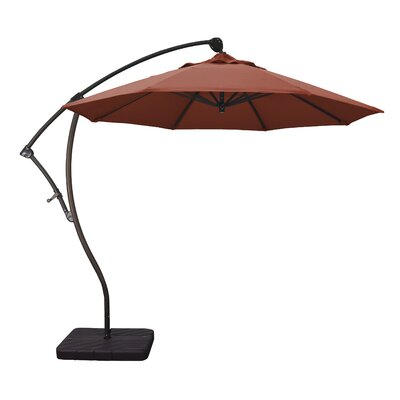 April 9 Cantilever Umbrella Fabric: Sunbrella AA Terracotta