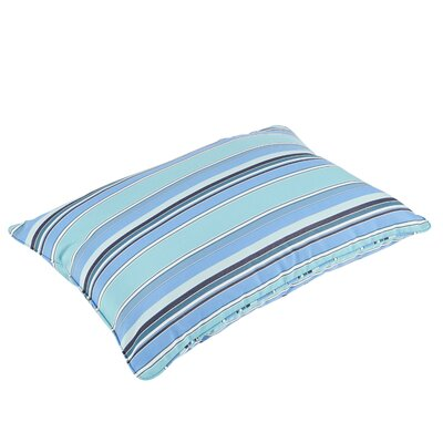 Porter Stripe Piped Indoor/Outdoor Sunbrella Floor Pillow