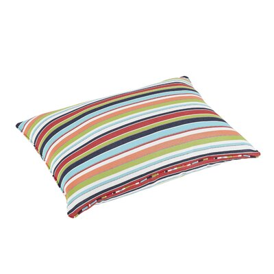 Windon Stripe Piped Indoor/Outdoor Sunbrella Floor Pillow