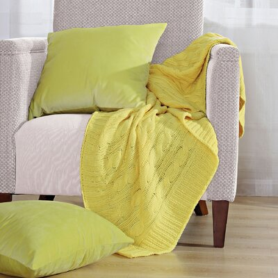 Antonia Super 18 Throw Blanket Color: Butter Cup