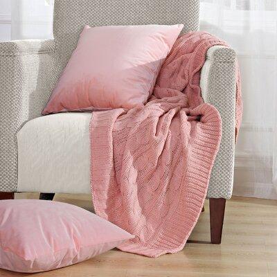 Antonia Super 18 Throw Blanket Color: Rose Quartz