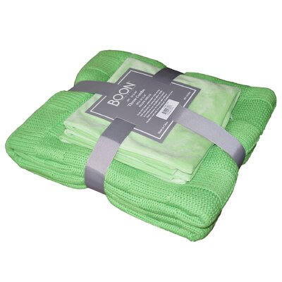 Antonia Checker Throw Blanket Color: Green Flash