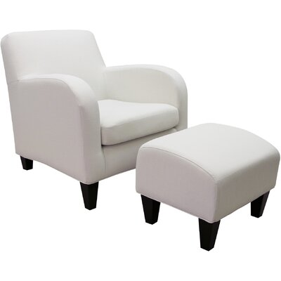 Paddington Lounge Chair with Ottoman Color: Snow