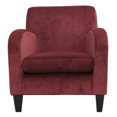 Paddington Solid Club Chair Upholstery: Red