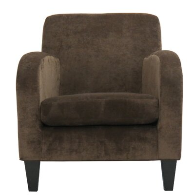Paddington Solid Club Chair Upholstery: Brown