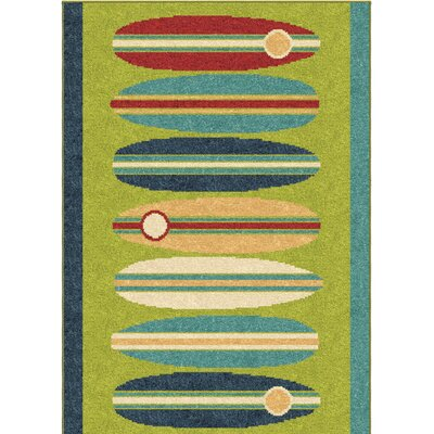 Bettencourt Surfin Green/Blue Area Rug
