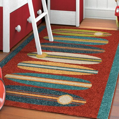 Bettencourt Surfin Red/Blue Area Rug