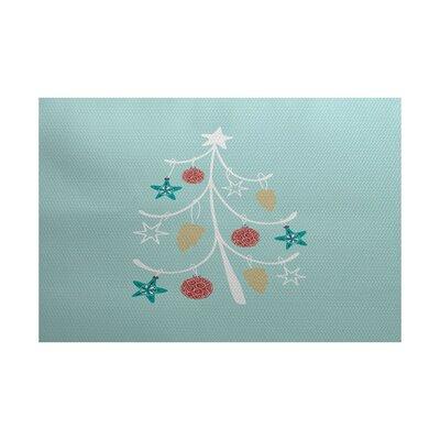 Landsdowne Christmas Blue Indoor/Outdoor Area Rug Rug Size: 2 x 3