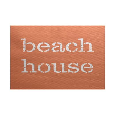 Cedarville Beach House Coral Indoor/Outdoor Area Rug Rug Size: 5 x 7