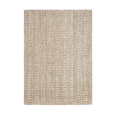Halima Hand-Woven Tan/Ivory Area Rug Rug Size: 5' x 8'