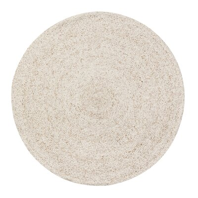 Winifred Handmade Tan/Ivory Area Rug Rug Size: Round 8