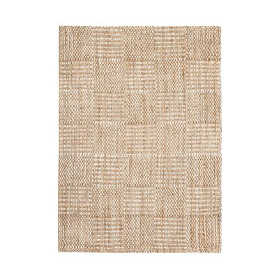 Whitney Hand-Woven Tan/Ivory Area Rug Rug Size: 8 x 10